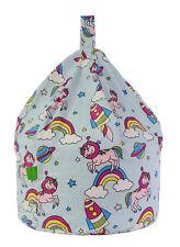 Cotton Space Unicorn Pastel Rainbow Bean Bag Adult Size By Bean Lazy