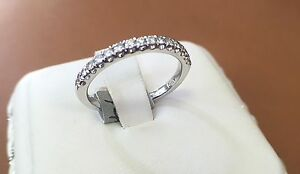 """Wedding  Band, 14k White Gold 0.20ct TCW of Natural Diamond """"F"""" Color"""