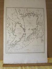 Vintage Print,LAKE VANERN,Wener Sea Sweden,T.Cadellm1817