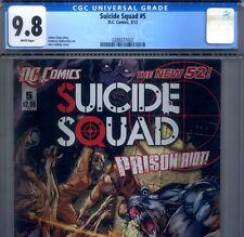 PRIMO:  SUICIDE SQUAD #5 NM/MT 9.8 CGC HIGHEST Harley Quinn DC movie New 52 lot