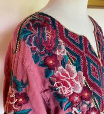 JOHNNY WAS large L Embroidered Shirt Top Gently Used