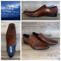Steve Madden Romen Brown Leather Loafers Slip On Dress Shoes Mens Size 11.5 M