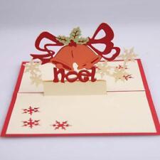 3D  Up Christmas Bell Handmade Xmas Party Greeting Card LA