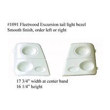 Fleetwood RV Rear Light Bezel FIBERGLASS #1091  White PASSENGER SIDE **SEE DESC