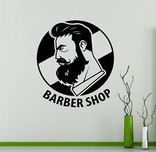 Barbershop Wall Vinyl Decal Hair Salon Emblem Vinyl Sticker Window Stickers (1)