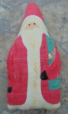 "Antique Santa Stuffed Doll ~ 12 1/2"" High ~ Rare Collectible"