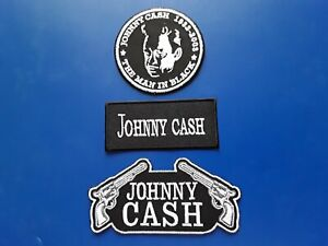 Johnny Cash Patches Set of Three