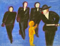 EDITH ISSAC ROSE 1929-2018 NEW YORK CITY SURREAL MODERNIST PORTRAIT PAINTING