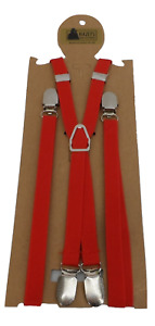 Mazeys Red Classic 1/2 Inch Mod Skinhead Fully Adjustable Braces