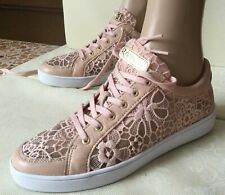 Leather sneakers with lace inserts GUESS Woman shoes, pink color, size 40 Scarpe