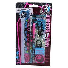 Monster High Papeterie Set Crayons Sharpener gomme, règle parfait pour l'école