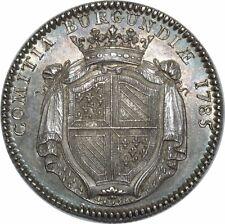 O799 RARE Jeton Louis XVI BOURGOGNE Bvrgvndia 1785 Argent SPL !! ->Faire offre