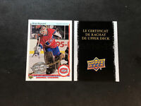 2010-11 UPPER DECK SERIES ONE BRIAN HAYWARD '90 UD 20TH ANNIVERSARY FRENCH #171