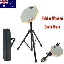 8 Inch Rubber Dumb Drum Practice Silencer Mute Pad Adjustable Steel Stand Gray