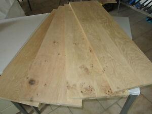 Eichenplatte (€46,89/m) Wildeiche Massivholzplatte 15x300x1000mm Leimholzplatte