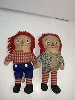 """Vintage 7"""" Set Of Raggedy Ann & Andy Dolls Cloth"""