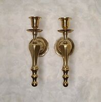 Set of 2 Solid Brass Wall Mount candle holder candlestick Sconces