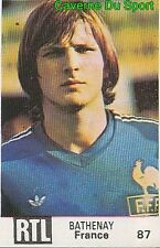 087 DOMINIQUE BATHENAY FRANCE VIGNETTE STICKER WORLD CUP ARGENTINA 78 RTL - BUT