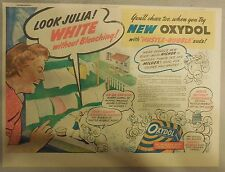 Oxydol Soap Ad: Look Julia,  White Without Bleaching! from 1940's