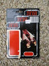 Carte A-WING PILOT Trilogo 1983 STAR WARS vintage Original Cardback backing card