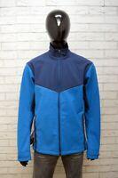 Felpa Uomo Salomon Taglia XL Maglione Sport Tecnico Blu Sweater Cardigan Nylon
