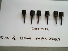 "Dremel tool accessory six 1/2 "" sanding drum mandrel"