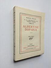 "Marcel PROUST "" Albertine disparue ** "" EDITION ORIGINALE NUMEROTéE, 1925"