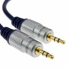 3m HQ OFC Shielded 3.5mm Stereo Jack to Jack Cable Gold