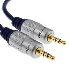3m Hq Ofc Blindado estéreo de 3,5 mm Jack A Jack Cable Gold