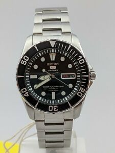 Seiko 5 Sports Automatic Submariner Styled 'Sea Urchin' Men's Watch SNZF17K1