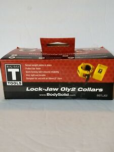 Body-Solid Tools Lock-Jaw OLY 2 Barbell Collar Pair BSTLJO2. New weight lifting