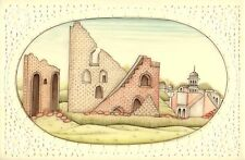 India Miniature Painting Jantar Mantar Watercolor Rajasthan Architecture Artwork