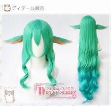 League of Legends LOL Soraka Star Guardian Cosplay Green Hair Wig + Ear Game