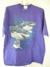 Mens XL Vtg 1993 T-Shirt Purple Jim Crockett Signed Great White Sharks Harlequin