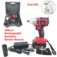 360n.m 68V Rechargeable Brushless Electric Impact Wrench Cordless 7800Ah Battery