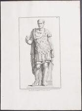 Rossi - Julius Caesar Statue. 15 -1704 Raccolta de Statue FOLIO Engraving