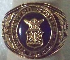 USAF ring with insignia, gold plated, size 10, with gift box