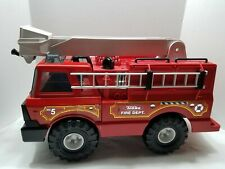 Tonka Fire Truck No. 5 Engine w/ Red Metal Cab Plastic Extendable Hook Ladder