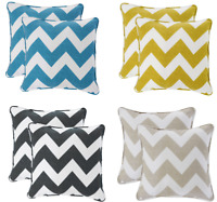 "Luxury Chevron 100% Cotton Zig Zag 17"" x 17"" Square Filled Scatter Cushion Cover"