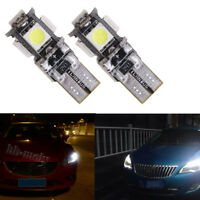 2X Bright White LED Side Light & Number Plate Light Bulb Canbus For VW SCIROCCO