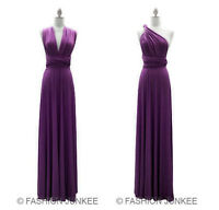 L2 DUSTY PURPLE MULTI WAY Dress Convertible Bridesmaid Maxi Full Length S M L XL