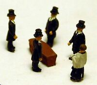 Funeral Coffin A74p PAINTED N Gauge Scale Langley Models People Figures 1/148