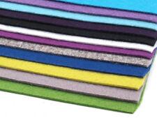 12 Platten Bastelfilz  20x30 cm Filzplatten 2mm-3mm Mix 1 Filz Schlüsselbandfilz