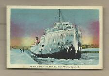 Last Boat of the Season, (steamer covered in Ice) Sault Ste. Marie Ontario, PECO