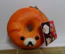 Brand New Rare Kawaii Rilakkuma Chocolate Cafe Donut Squishy