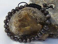Homme shamballa bracelet tous 8mm gris cats eye stone beads