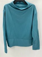 Nike Womens Dri Fit Turquoise Blue Long Sleeve Pullover Size XL