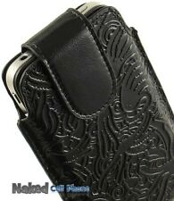 LIMITED LUXURY BLACK LEATHER SLEEVE POUCH CASE COVER FOR APPLE iPHONE 4S 4 4G