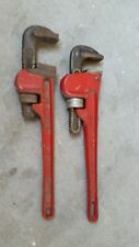 Two Used Pipe Wrenches