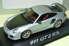 MINICHAMPS PORSCHE 911 997 GT2 RS SILVER DEALER PROMO 1:43 1 OF 1000 SOLD OUT